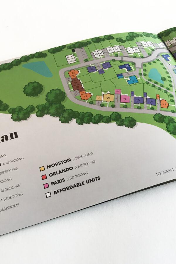 Matthew Homes Site plan vector illustration